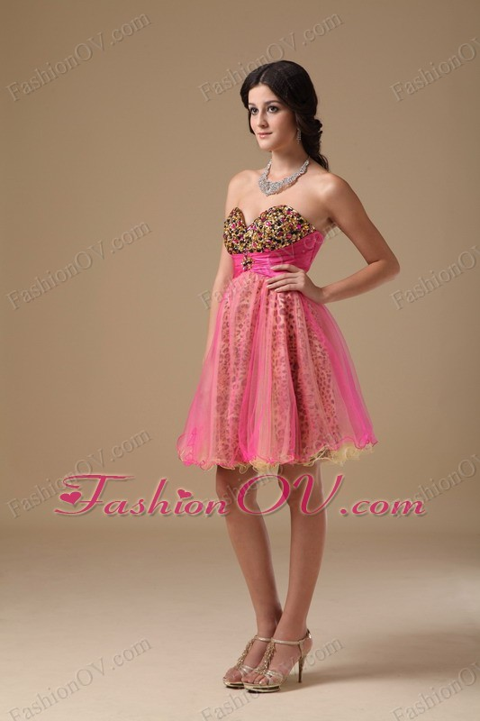 Multi-color Organza Beading Cocktail Graduation Dresses