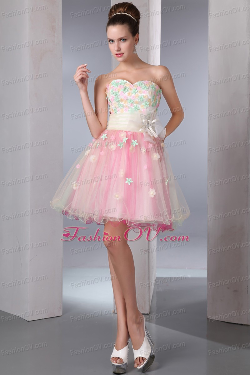 Colorful Prom Homecoming Dress Sweetheart Organza