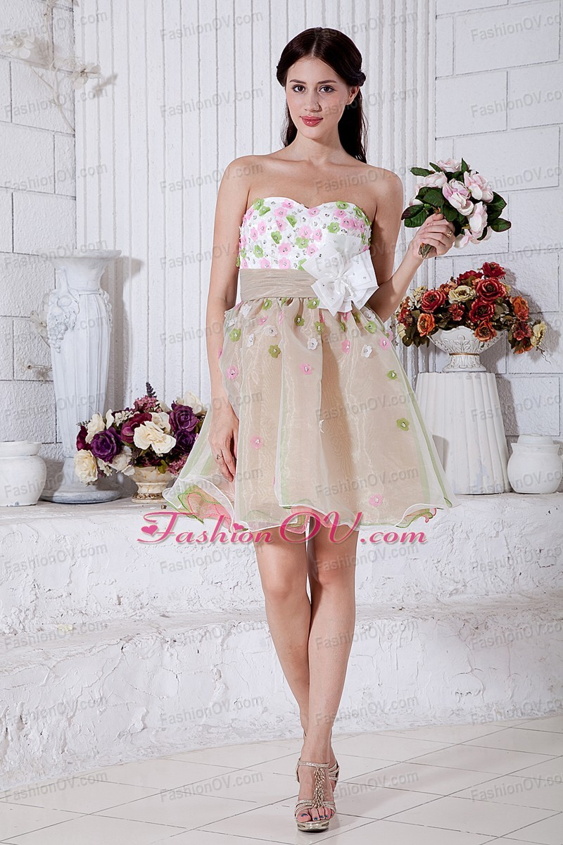 Colorful Sweetheart Organza Prom Homecoming Dress