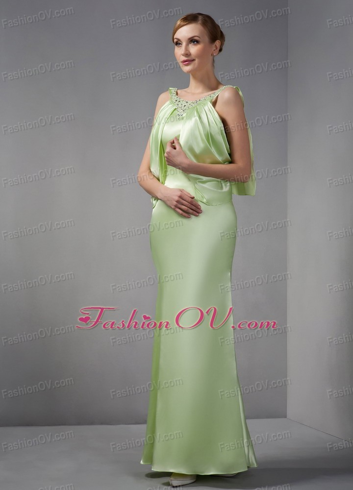 Spring Green Maxi Pageant Dresses Column Scoop