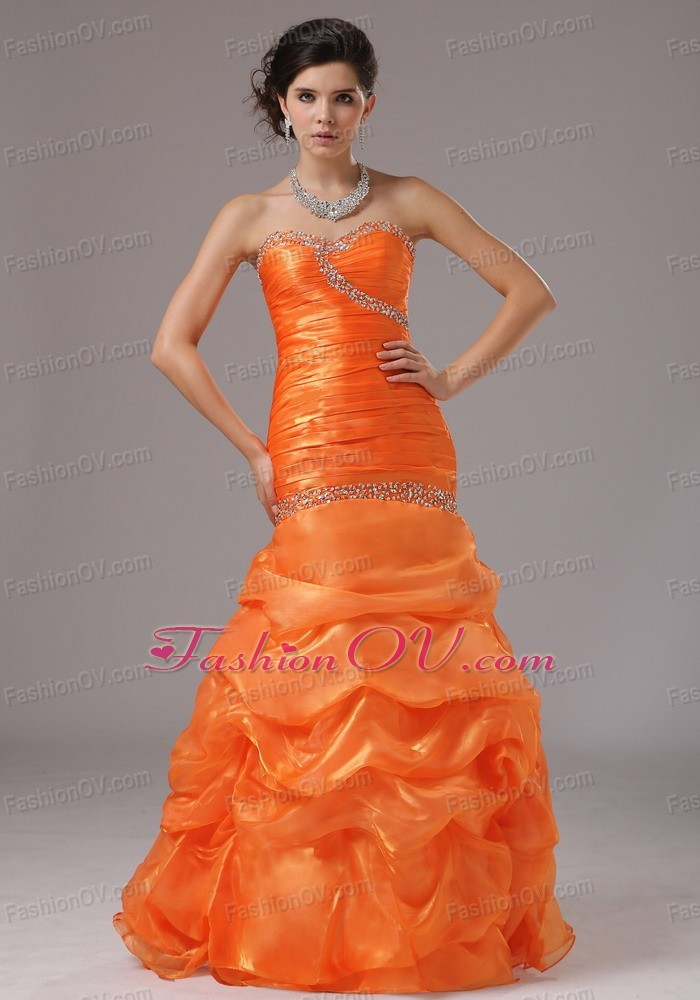 Beaded Pageant Celebrity Dress Bust Ruched Bodice