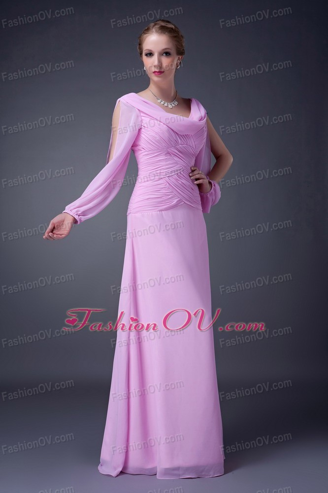 Unique Style Mother of the Bride Dress with Ruched Bodice