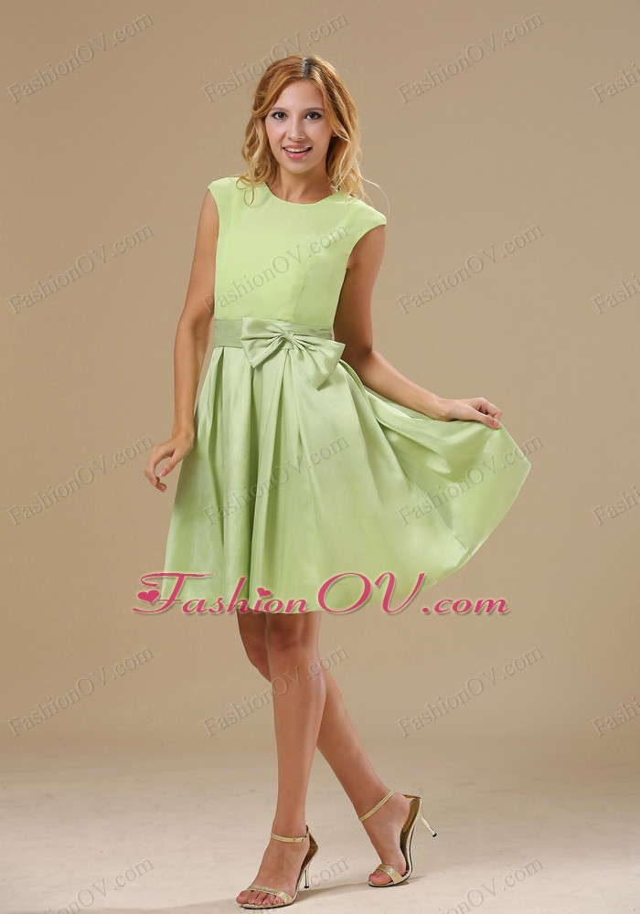 Fashionable Bowknot Decorate Wasit Bridesmaid Dresses