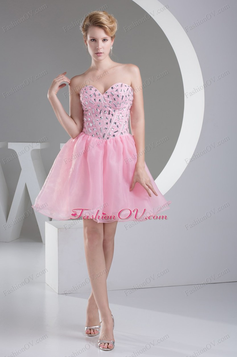 Lovely Sweetheart Beading Princess Short Prom Dress
