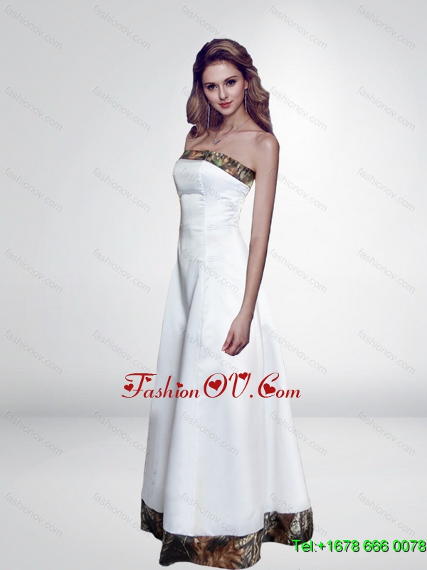 Discount Simple Empire Strapless Lace Up Camo Prom Dresses