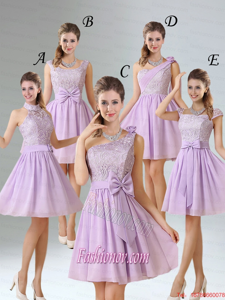 2015 Brand New Style A Line Chiffon Bridesmaid Dress