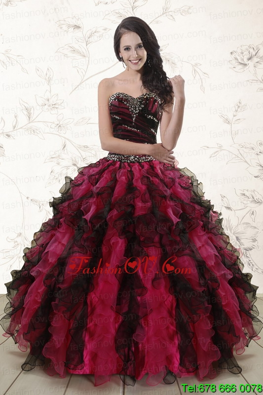 Beautiful Multi Color 2015 Quinceanera Dresses with Sweetheart