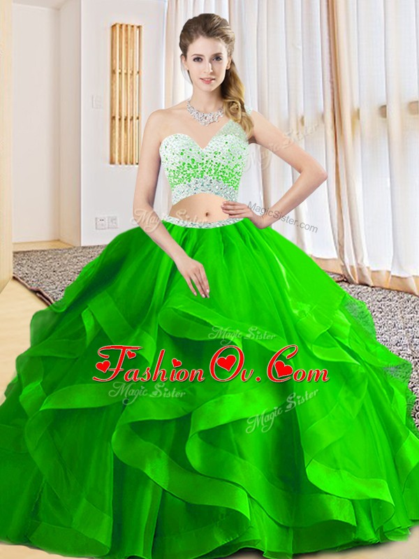 Sleeveless Criss Cross Floor Length Beading and Ruffled Layers Quinceanera Dress