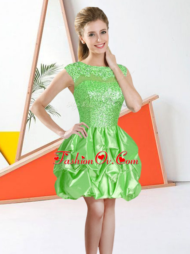 Flare Knee Length Ball Gowns Sleeveless Court Dresses for Sweet 16 Backless