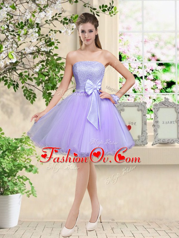 Lilac Off The Shoulder Lace Up Lace and Belt Wedding Guest Dresses Sleeveless