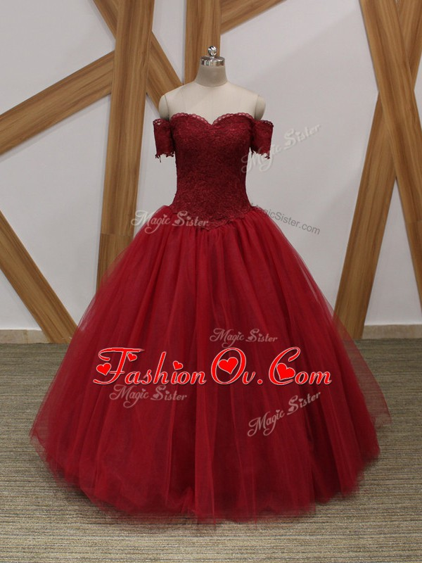 Fantastic Sleeveless Lace Up Floor Length Appliques Prom Dress
