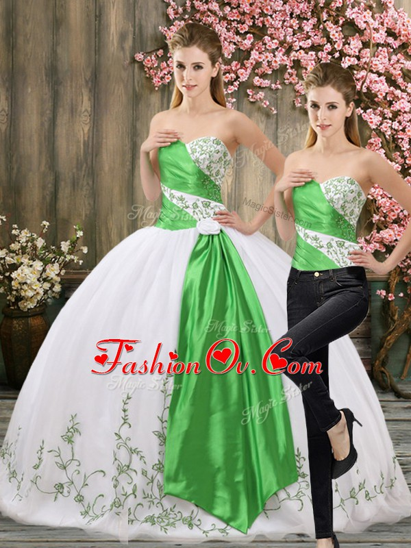 High End White Sleeveless Organza Lace Up Sweet 16 Dresses for Military Ball and Sweet 16 and Quinceanera