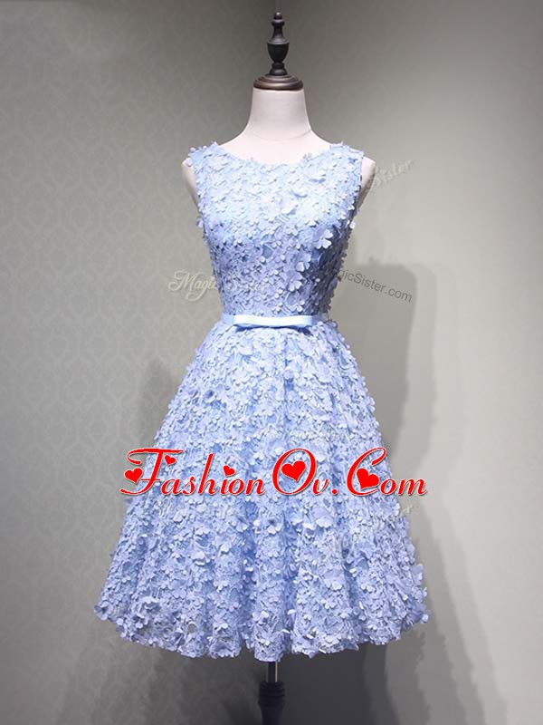A-line Hoco Dress Lavender Scoop Tulle Sleeveless Mini Length Lace Up