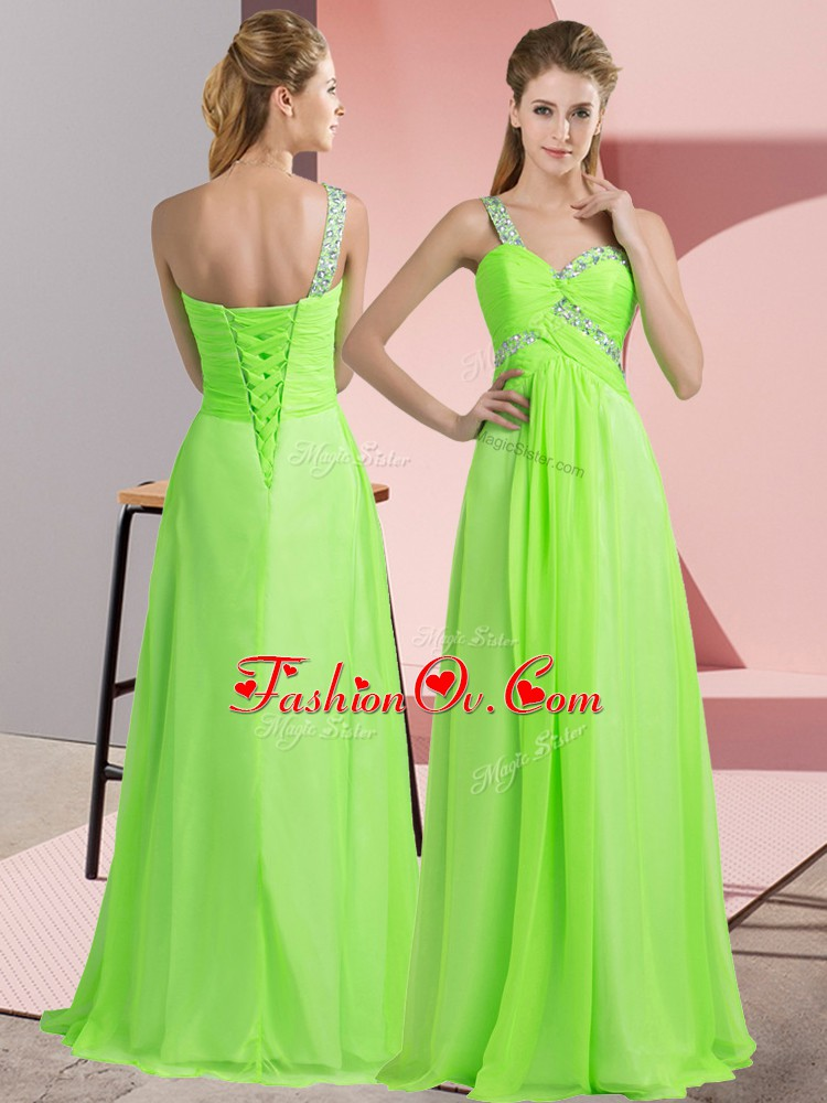 Sleeveless Beading Floor Length Dress for Prom
