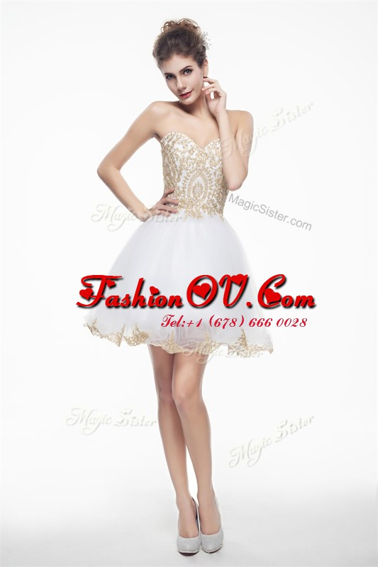 Sleeveless Beading and Lace Zipper Cocktail Dresses