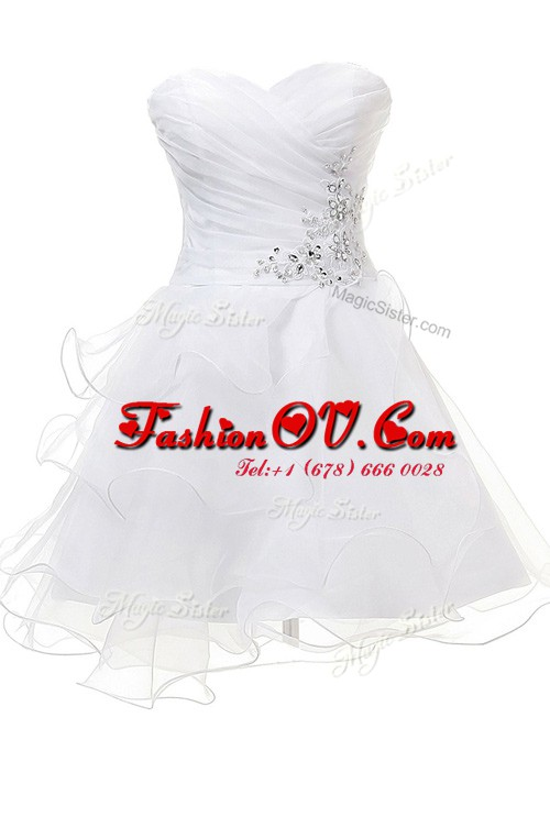 Superior Sweetheart Sleeveless Tulle Appliques Criss Cross