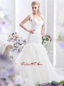 2015 Elegant Sweetheart Wedding Dress with Lace