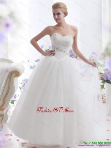 2015 Fashionable Sweetheart Wedding Dress with Paillette