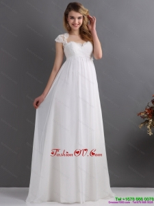 2015 High End Sweetheart Wedding Dress with Floor Length