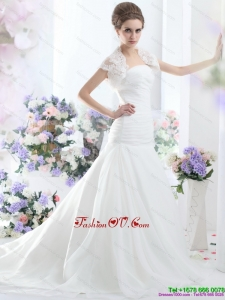 High End A Line Strapless Wedding Dress for 2015
