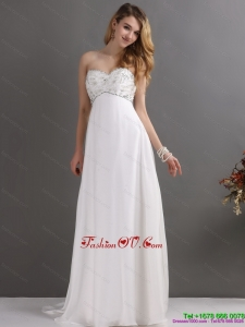 High End Sweetheart Wedding Dress with Beading for 2015