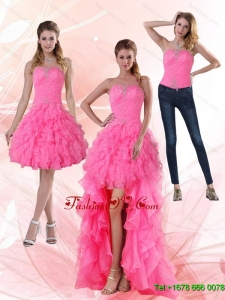 2015 Most Popular Detachable Prom Skirts with Beading and Ruffled Layers