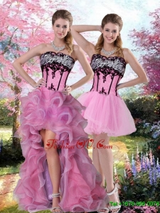 Cute Embroidery 2015 Detachable Prom Skirts in Multi Color