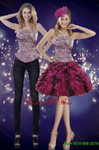 2015 Detachable Ruffles and Leopard Prom Skirts in Multi Color