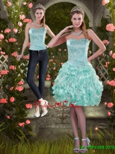Detachable 2015 Strapless Prom Skirts with Beading and Ruffles