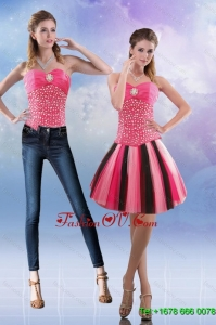 Detachable 2015 Sweetheart Multi Color Prom Skirts with Beading
