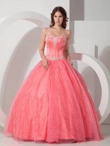 Corset Watermelon Sweetheart Sweet 16 Birthday Gowns