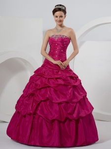 Sequins Fuchsia Quinceanera Dress Pick-ups Custom Made