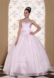 Baby Pink 2013 Quinceanera Dress Sweetheart Beaded Decorate