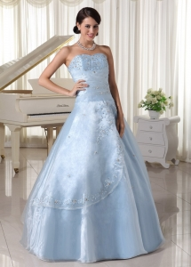 Organza Appliques Quinceanera Dress Beading Sweetheart