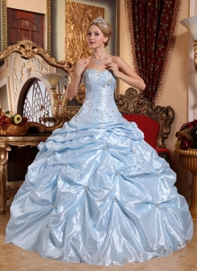 Ball Gown Lilac Sweetheart Taffeta Embroidery with Beading