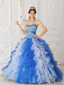 Multi-color A-Line Sweetheart Ball Gown Organza Beading