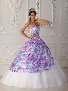 Quinceanera Dress Multi-color A-line Sweetheart Floor-length Tulle