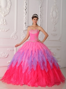 Sweetheart Organza Beading and Ruch Sweet 16 Dress