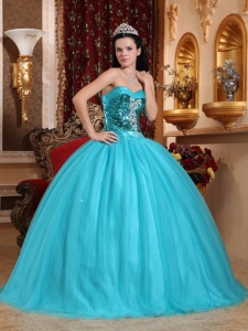 Sweetheart Tulle Beading Quinceanera Dress by Sequence