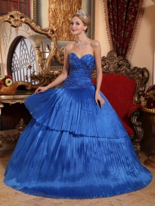 Sweetheart Organza Quinceanera Dress by Pleated Fabric