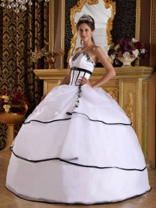 Strapless Satin and Organza Appliques Dress for Quinceanera