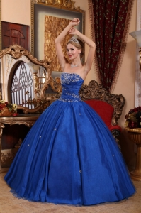 Royal Blue Quinceanera Dress for Sweet 15 Appliques