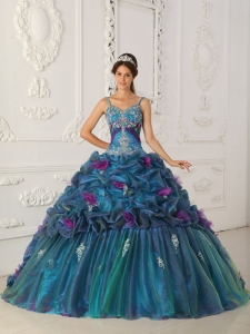 Pick-ups Chapel Quinceanera Dress Multi-colored Straps