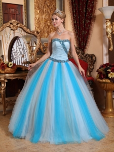 Tulle Beaded Multi-color Quinceanera Gown Dress Sweetheart