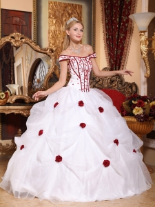 Off The Shoulder Quinceanera Gown Dresses Embroidery