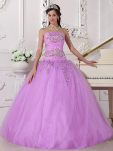 Beading Appliques Lavender Quinceanera Dresses Ball Gown