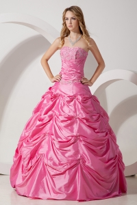 Rose Pink Appliques Quinceanera Dresses for Sweet Sixteen