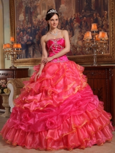 Ball Gown 16th Birthday Dress Sweetheart Taffeta Organza Beading