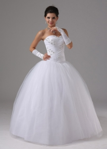 Sweetheart Tulle Wedding Bridal Gown Beaded Bodice 2013