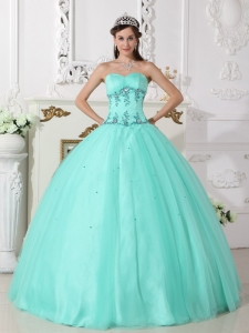 Ball Gown Sweetheart Embroidery Beading Quinceanera Dresses